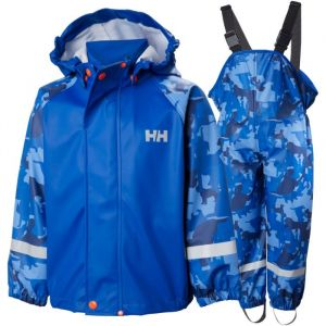 Helly Hansen K Bergen AOP PU RainSuit Olympic blue