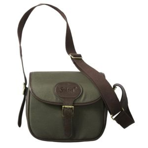 Seeland Cartridge Bag in Canvas Green/Brown