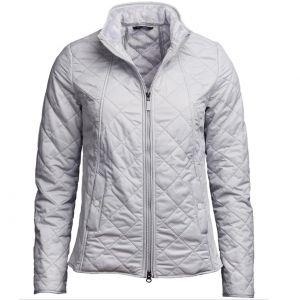 Barbour Ladies Backstay Quilt Jacket Ice White