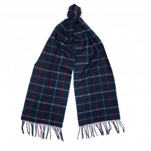 Barbour Women's Navy Country Tattersall Scarf
