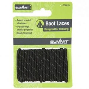 Summit 120cm Black Boot Laces
