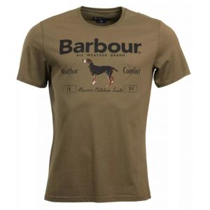 Barbour Men's Country Tee Mid Olive