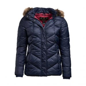 Barbour Downhall Quilted Jacket Navy