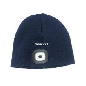 Ridge53 Beanie Hat With LED Light - Navy