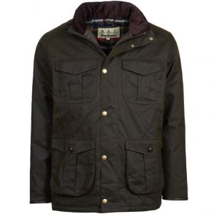 Barbour Men's Latrigg Wax Jacket Dark Olive