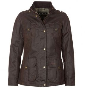 Barbour Ladies Winter Defence Waxed Cotton Jacket Olive