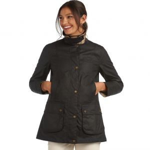Barbour Ladies Fiddich Wax Cotton Jacket Navy