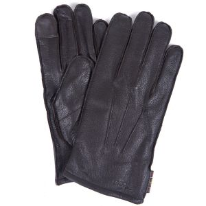Barbour Bexley Leather Gloves Chocolate