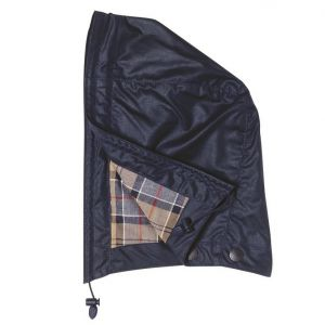 Barbour Waxed Cotton Hood- Navy