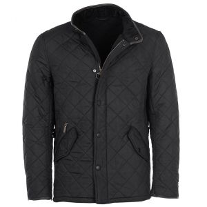 Barbour Powell Men's Quilted Jacket - Black