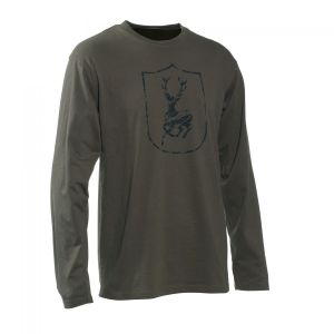 Deerhunter Shield Logo T-Shirt - Long Sleeve