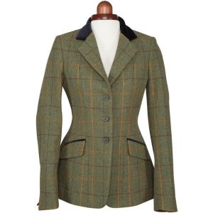 Aubrion Childs Saratoga Jacket Red/Yellow/Green Check