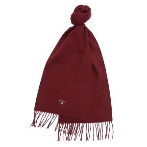 Barbour Plain Lambswool Scarf Dark Red