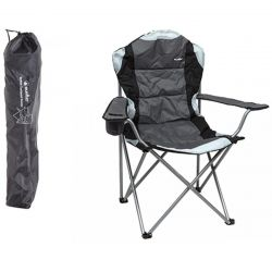 Summit Berkley Padded Relaxer High Back Camping Chair - Black